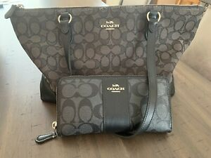 Coach Purse amp; Coach Wallet GUC With Some Wear Black