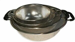 Flash Sale 4 pcs. Stainless Steel Kitchen Strainer Colander Set US Stock