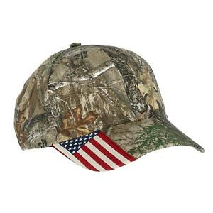 New Outdoor Cap Camouflage with Side American Flag Baseball Hat