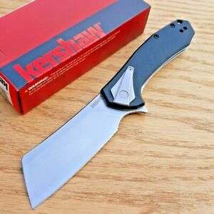 Kershaw Bracket Folding Knife 3.40quot; 8Cr13MoV Steel Blade G 10 Stainless Handle
