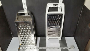 Stainless Steel Hand Grater White Plastic Handle ; Flat MADE IN GERMANY $4.99