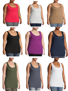 NEW TERRA SKY WOMENS SUPER SOFT LONG LENGTH FIT LAYERING TANK TOP PLUS SIZES $12.74