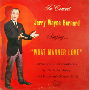 ID6035a Jerry Wayne Bernard In Concert Singing LLP 110 vinyl LP us m9s9 $17.70