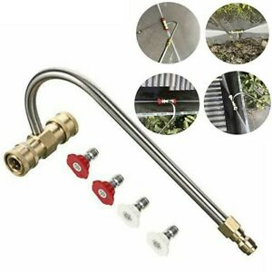 High Pressure Washer Gutter Cleaner Rod Nozzle For Lance Wand 1 4quot; Quick Connect $28.03