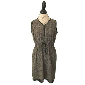 A New Approach Dress Size 12 Shift Womens Sleeveless Sheer Casual Front Tied $22.40