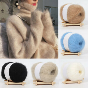 25g Mohair Cashmere Wool Angola Yarns DIY Knitting Crochet Sweater Cardigan Hat $2.59