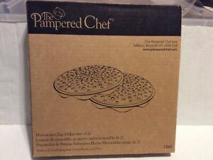 The Pampered Chef Microwave Chip Maker #1241 Set Of 2 New In Box