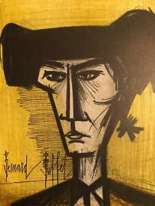 Bernard BUFFET Original Color Lithograph Torero Bullfighter Signed Mourlot 1967 $129.00