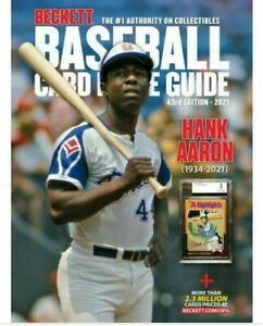 New 2021 Beckett Baseball Card Annual Price Guide 43rd Edition With Hank Aaron $32.50