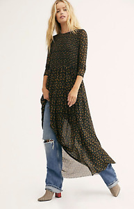 Free People Hello and Goodbye Long Sleeve Floral Maxi Dress Size Medium