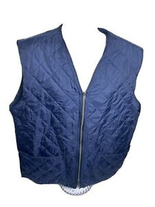 Brooks Brothers Full Zip Quilted Vest Men's Size Large Blue $16.09