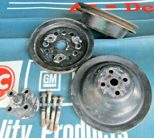 1963 68 Small Block Chevy pulley set w fan extension Camaro Nova Chevelle Impala $139.99