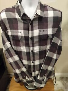 Mens Used Vans Large Flannel Shirt Free Shipping