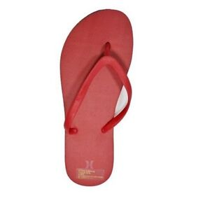 Hurley SOLID ONE amp; ONLY Red Beach Surf Discount Women Sandals Flip Flops