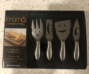 Froma Prodyne Gourmet Cheese Knife Set Stainless Steel Handles and Blades