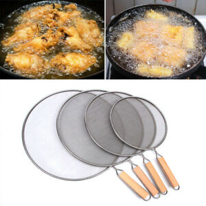 Oil Splatter Screen For Cooking Oil Proofing Lid Spill Proof Frying Pan Kitchen