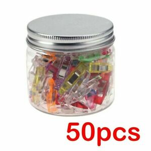 Plastic Mini Clips 50Pcs Wonder Sewing Holder Clamps Knitting Garment Clip C $10.66