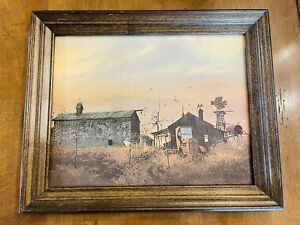 Vintage Framed Lithograph quot;A Summer Eveningquot; by Frank M. Hamilton $40.00