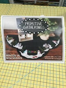 Primitive Gatherings winter in Wisconsin Wool Kit and Pattern New in Package $75.00