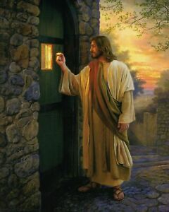 Catholic print picture JESUS KNOCKING ON DOOR 8 x 10 ready to be framed $12.97