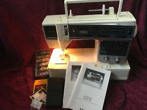 1989 Vintage Singer Machine 6268 w 2 Electronic Embroidery Unit amp; Cartridges $190.00