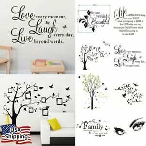Vinyl Home Room Decor Art Quote Wall Decal DIY Stickers Bedroom Removable Mural