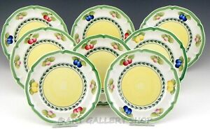 Villeroy amp; Boch FRENCH GARDEN FLEURENCE 6 3 4quot; BREAD AND BUTTER PLATES Set of 8 $99.00