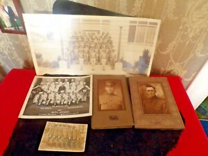 LOT of 5 Antique Military Photos $50.00