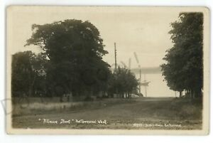 RPPC Fillmore Street Schooner PORT TOWNSEND WA Torka Studio Real Photo Postcard