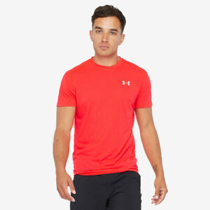 Under Armour XL Shirt Mens Streaker 2.0 Tee Red Coral Short Sleeve 1326579 New $29.39