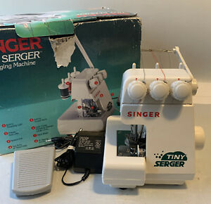 Singer Tiny Serger Overedging Machine Model TS380A w Accessories...Tested $65.00