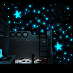Kids Bedroom Wall Stickers Kids Room Home Decor Glow In The Dark Stars Decal US