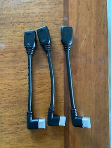 3 Pack Right Angle HDMI Connector Male to Female $15.00