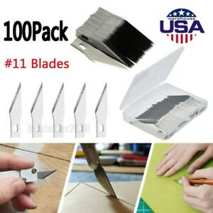 Kit 100PCS Exacto Knife Blades For Refill Ruler Xacto Craft Cutting amp; Crafting $10.33