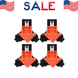 4Pcs Set 90 Degree Right Angle Clip Clamps Corner Holders Woodworking Hand Tools $9.89
