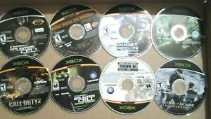 Call Duty Splinter Cell Ghost Recon Brother Arms Microsoft Xbox DISC Bundle $25.00