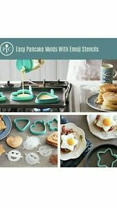 Pampered Chef Easy Pancake Molds with Emoji Stencils #1839