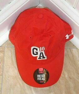 Mens Under Armour Golf Hat Red Color Local Tourn. Letters Adjustable New W OT1SZ $2.00
