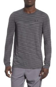 Under Armour XL Shirt Vanish Mens Long Sleeve Fitted Dark Gray New NWT $29.66