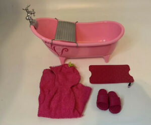 """Our generation bathtub spa accessories set for 18"""" doll Pink"""