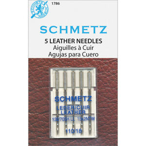 Euro Notions Schmetz: Leather Needles. This Package Contains Five Sewing Machine $8.61