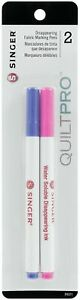 Singer Quiltpro Disappearing Fabric Marking Pens: Fine Point Pink amp; Blue. Perfec $9.02