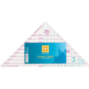 Wrights Easy Star And Geese Quilting Rulers. Easy To Use Ruler For Cutting Trian $16.51