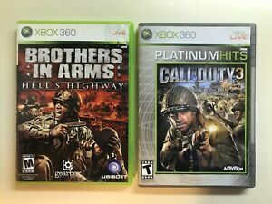 Xbox World War II Lot Brothers in Arms Hell#x27;s Highway Call of Duty 3 COD WWII