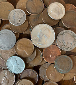 * US Vintage Estate Coin Lot * Collection of Rare Old Coins Including Silver * $19.99