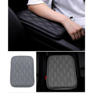 Gray Car Dust Proof Pu Leather Armrest Pad Cover Auto Center Console Cushion Mat $9.53