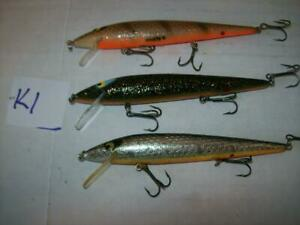 Lot Of 3 Vintage Smithwick Floating Suspending Rattlin Rogue Lures 4 1 2 Inches