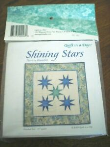 Quilt in a Day Shining Stars Pattern amp; Triangle in a Square Rulers Set Sewing $14.99