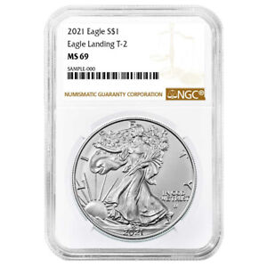 2021 $1 Type 2 American Silver Eagle NGC MS69 Brown Label $46.96
