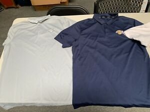 Lot of 3 Los Angeles Lakers Nike Dri Fit Golf Shirts Used XL Blue White $59.99
